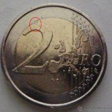 Monedas con errores: LUXEMBURGO 2005 MONEDA DE 2 EUROS CON EXCESO DE METAL EN REVERSO- ERROR- VARIANTE- LUX1. Lote 48076358