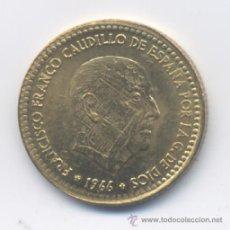 Monedas con errores: ESTADO ESPAÑOL- 1 PESETA 1966*75 - ESCUDO IMPRESO SOBRA LA CARA DE FRANCO. Lote 48828634