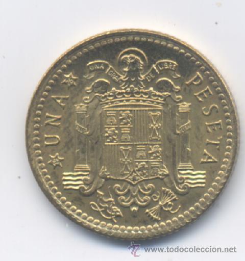 Monedas con errores: ESTADO ESPAÑOL- 1 PESETA 1966*75 - ESCUDO IMPRESO SOBRA LA CARA DE FRANCO - Foto 2 - 48828634