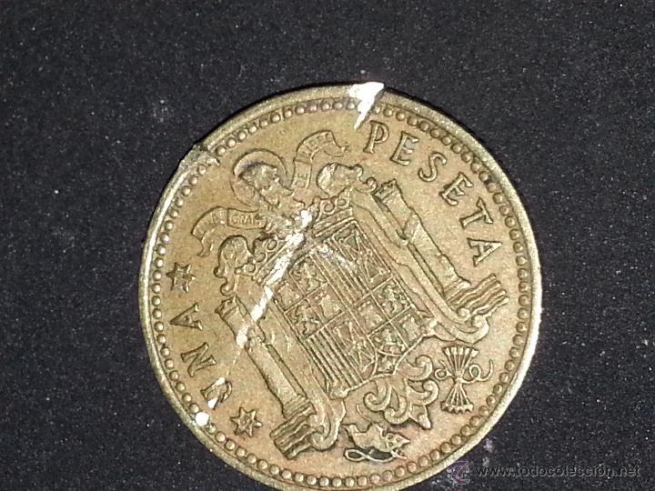 Monedas con errores: RAREZA Y ERROR DE ACUÑADO bocado 1 PESETA FRANCO con marcas - franco 1966 - Foto 5 - 50903719
