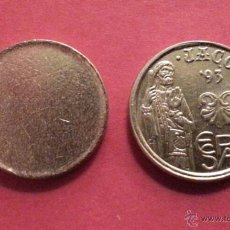 Monedas con errores: ## COSPEL DE 5 PESETAS MODELO PEQUEÑO ##. Lote 51224304