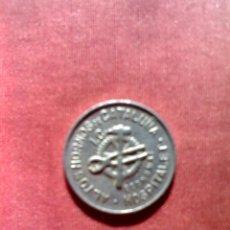 Monedas con errores: MONEDA 10 CÉNTIMOS ALTOS HORNOS CATALUÑA HOSPITALET ECONOMAT REGALO FRANCO 1966. Lote 53335698