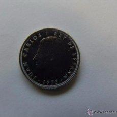 Monedas con errores: MONEDA DE 5 PESETAS 1975 ESTRELLA 80- DURO DEL ERROR- SIN CIRCULAR. Lote 54027477
