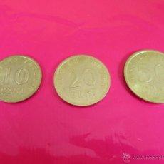 Monedas con errores: LOTE 3 MONEDAS-EURO-PRUEBA-10,20,50 CENTS-VER FOTOS.. Lote 54500982