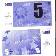 Monedas con errores: BILLETE HUMOR/PROPAGANDA ** JOAN SITJES 50 € **. Lote 178833873