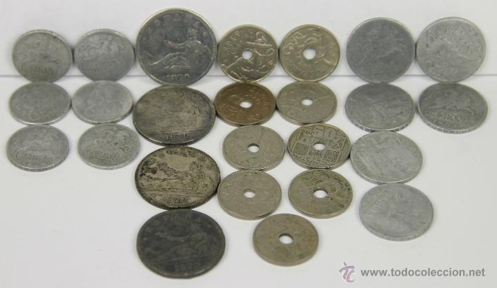 MO-202 - LOTE DE 25 MONEDAS VARIADAS,(VER DESCRIP) 1870-1953 (Numismática - España Modernas y Contemporáneas - Variedades y Errores)