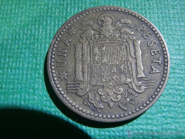 Monedas con errores: 1 PESETA - 1953 * 61 - ACUÑACIÓN DESPLAZADA - Leve - Material extra zona letra - C - - Foto 2 - 54958932