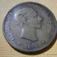 Monedas con errores: FALSA DE ÉPOCA - ALFONSO XII - 1878 - TRATA DE IMITAR 10 PTS ORO - REVERSO SIN ACUÑAR -. Lote 55018150