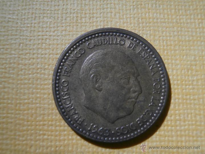 ACUÑACIÓN DESPLAZADA - 1 PESETA - 1963 * 66 - (Numismática - España Modernas y Contemporáneas - Variedades y Errores)