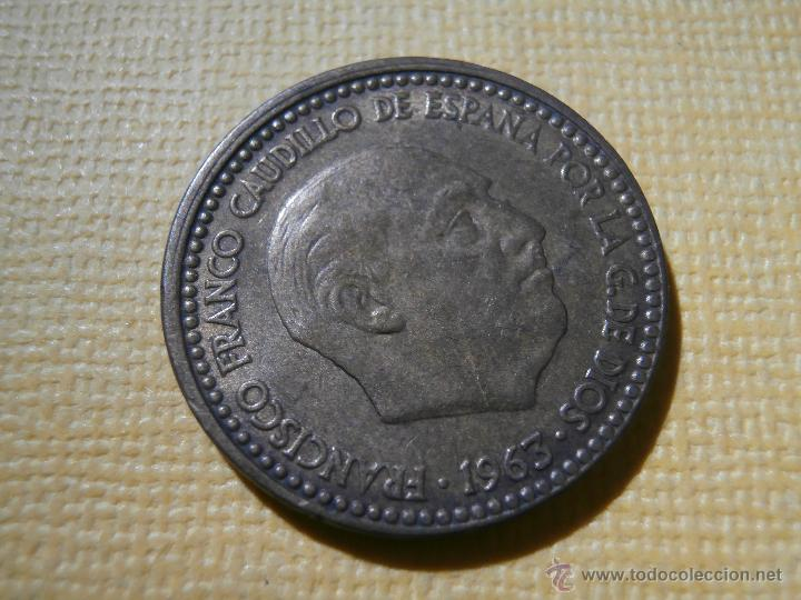 Monedas con errores: Acuñación desplazada - 1 peseta - 1963 * 66 - - Foto 3 - 55018166