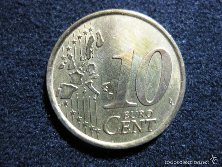 Monedas con errores: 10 céntimos Italia año 2002 - Variante cM (La c tiene un tamaño menor que la M) - Foto 2 - 55338216