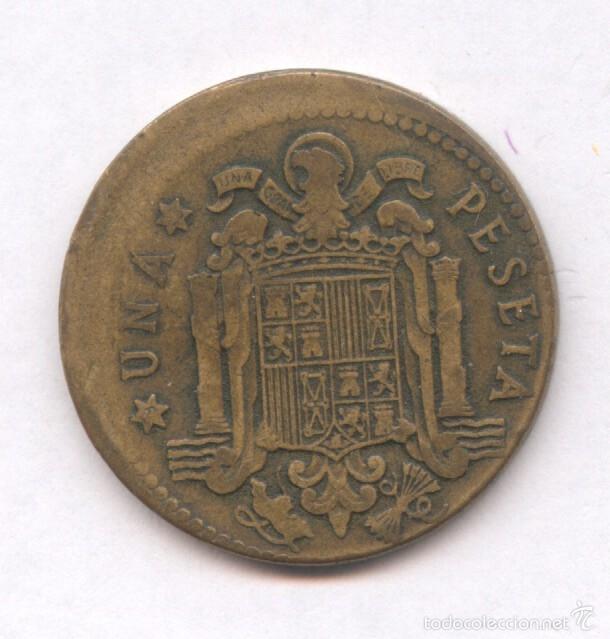 Monedas con errores: * ERROR * MONEDA CON ACUÑACION DESPLAZADA.1 PESETA AÑO 1953*63 - Foto 2 - 57380621