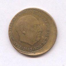 Monedas con errores: * ERROR * MONEDA CON ACUÑACION DESPLAZADA. 1 PESETA AÑO 1963*63. Lote 57380684