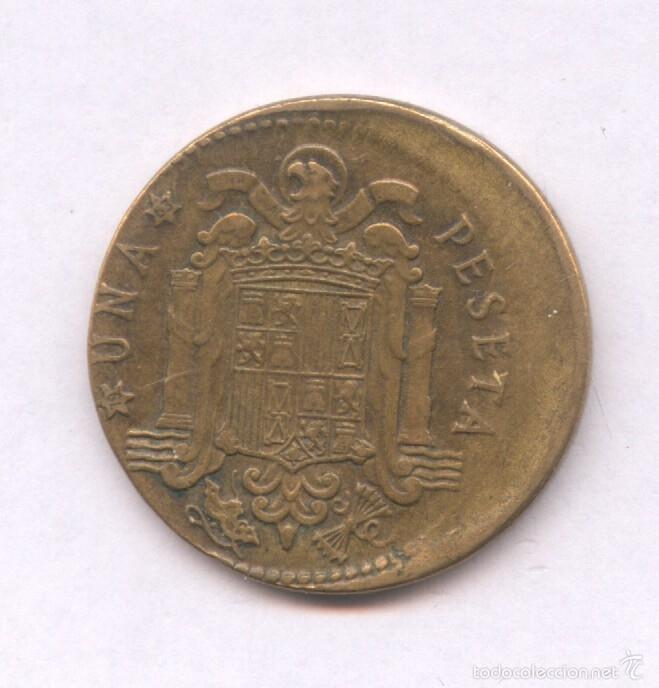 Monedas con errores: * ERROR * MONEDA CON ACUÑACION DESPLAZADA. 1 PESETA AÑO 1963*63 - Foto 2 - 57380684