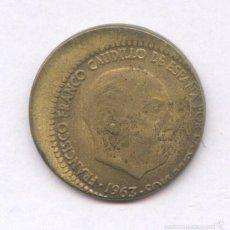 Monedas con errores: * ERROR * MONEDA CON ACUÑACION DESPLAZADA. 1 PESETA AÑO 1963*65. Lote 57380725