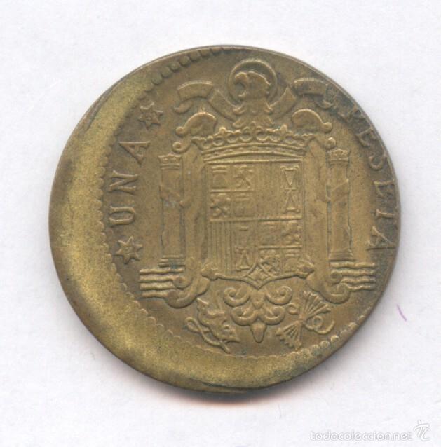 Monedas con errores: * ERROR * MONEDA CON ACUÑACION DESPLAZADA. 1 PESETA AÑO 1963*65 - Foto 2 - 57380725