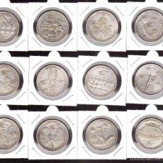 Monedas con errores: 12 MONEDAS DEL REAL MADRID CON BAÑO DE PLATA. Lote 60446263