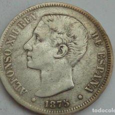 Coins with Errors - 5 PESETAS DE PLATA DE ALFONSO XII DE 1875 DE M, Variante escuson dentro de la oreja - 62116476
