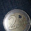 Monedas con errores: EURO FALLO DE FABRICACION - MONEDA 2 EUROS ERROR DE ACUÑACION , FALTA DE METAL . VER FOTO . Lote 128074938