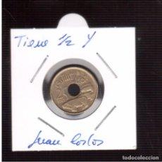 Monedas con errores: MONEDAS DE JUAN CARLOS 25 PESETA MAL ACUÑACION 1/2 Y . Lote 63123916