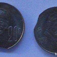 Monedas con errores: ERROR - DOS MONEDAS DE 20 CENTAVOS - MÉXICO -1978 Y 1979. Lote 65661890