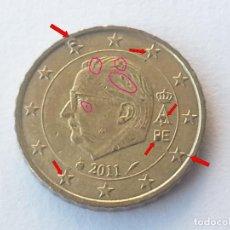 Monedas con errores: ## ERROR ## 10 CENTIMOS BELGICA 2011 CON MULTIPLES EXCESOS #. Lote 68466673