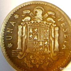 Monedas con errores: 3 ERRORES EN LA MISMA MONEDA DE 1 PESETA DE 1953 . Lote 75308871