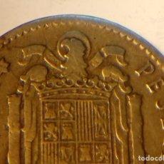 Monedas con errores: DOBLE ACUÑACIÓN EN 1 PESETA DE 1953. Lote 75938795