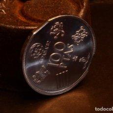 Monedas con errores: IMPRESIONANTE SEGMENTACIÓN DOBLE EN UNA MONEDA DE 100 PESETAS ESPAÑA 82 *80 SIN CIRCULAR. Lote 78906309