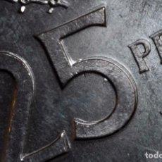Monedas con errores: MONEDA REMARCADA DE 25 PESETAS SIN CIRCULAR 1980 *80 (MON 59). Lote 80031089