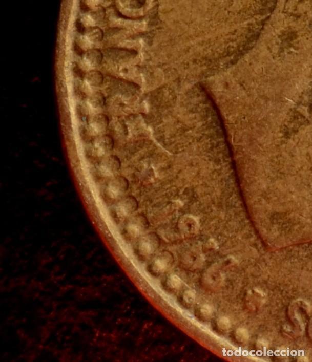 Monedas con errores: MONEDA DE UNA PESETA, 1966 *67, LETRAS INCUSAS, REPINTE, ETC. (REF.190) - Foto 3 - 84672116
