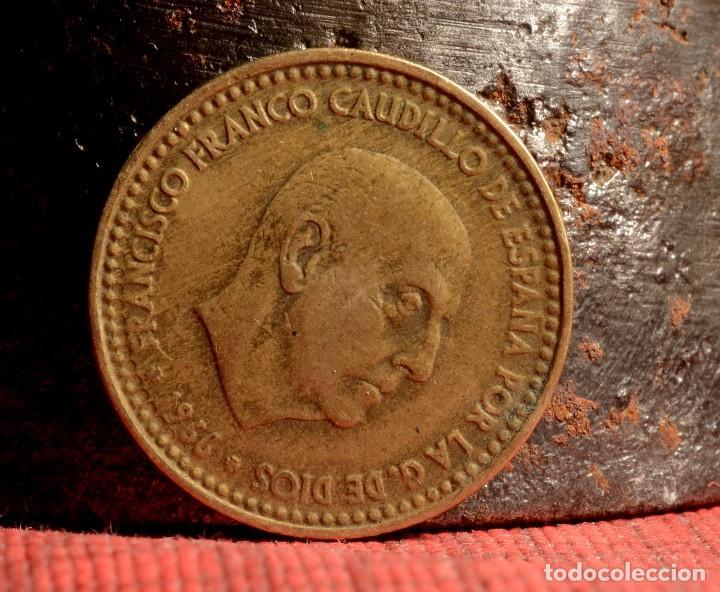 Monedas con errores: MONEDA DE UNA PESETA, 1966 *67, LETRAS INCUSAS, REPINTE, ETC. (REF.190) - Foto 4 - 84672116