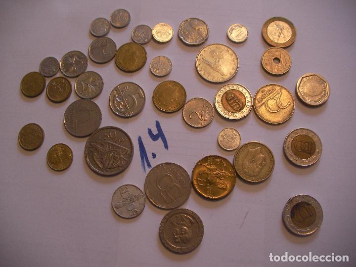 GRAN LOTE DE MONEDAS VARIAS - ESPAÑA Y OTROS PAISES (Numismática - España Modernas y Contemporáneas - Variedades y Errores)
