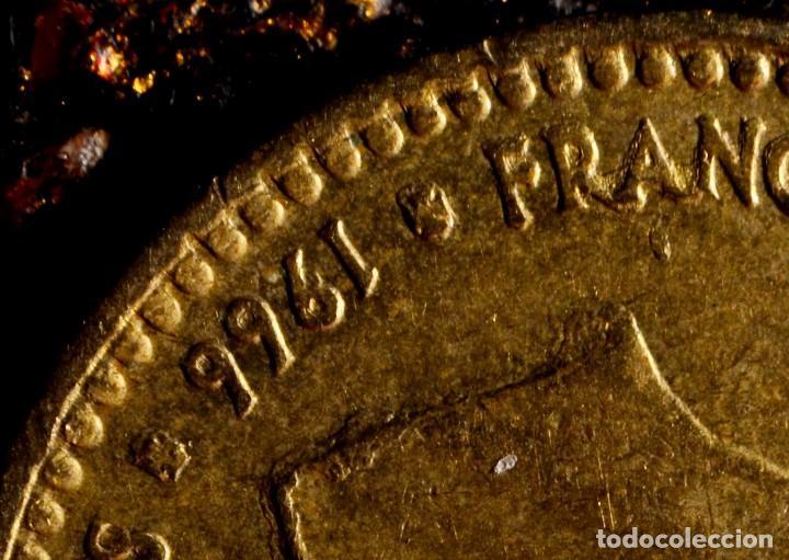 Monedas con errores: UNA PESETA 1966 *74: GRAFÍA MUY IRREGULAR Y CUELLO DE FRANCO CON EXCESO DE MATERIAL (REF.300) - Foto 2 - 89496132