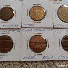 Monedas con errores: LOTE DE TOKENS, OCHO EN TOTAL.. Lote 90886910