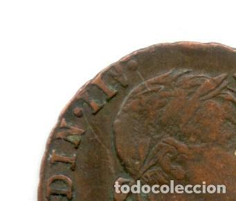 * ERROR EXTRAORDINARIO * 2 MARAVEDIS FERNANDO VII 1832 NUMERAL IIV (Numismática - España Modernas y Contemporáneas - Variedades y Errores)