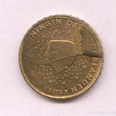 Monedas con errores: * ERROR ÚNICO * 10 CENT HOLANDA AÑO 2000 CUÑO DESCANTILLADO Y GIRADA. Lote 93019475