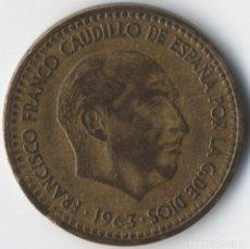 Monedas con errores: ESTADO ESPAÑOL 1 PESETA 1963 *19 *65 CON VARIOS ERRORES. ANVERSO Y REVERSO. MEJOR VER.. Lote 93747405