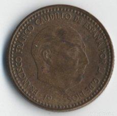 Coins with Errors - ESTADO ESPAÑOL 1 PESETA 1963 *19 *65 REPINTADA ANVERSO Y REVERSO. EBC - 93751465