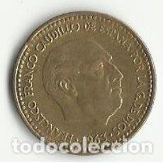 Monedas con errores: UNA PESETA. 1963 - ERROR.. Lote 93789040