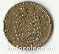 Monedas con errores: UNA PESETA. 1963 - ERROR. - Foto 2 - 93789040