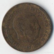 Monedas con errores: ESTADO ESPAÑOL 1 PESETA 1963 *19 *64 CON VARIOS ERRORES MEJOR VER.. Lote 93811895