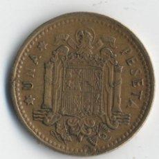 Monedas con errores: ESTADO ESPAÑOL 1 PESETAS 1966 *68 MARCACIÓN INCUSA ANVERSO Y REVERSO.. VARIAS ROTURAS... Lote 93847160