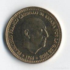 Coins with Errors - ESTADO ESPAÑOL 1 PESETAS 1966 *75 PERLAS GRANDES Y PEQUEÑAS JUNTAS Y SEPARADAS SC DE CARTUCHO FNMT - 93896355