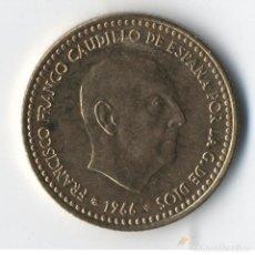 Coins with Errors - ESTADO ESPAÑOL 1 PESETAS 1966 *75 VARIANTE SIN VIRGULILLA. SC DE CARTUCHO FNMT - 93896970