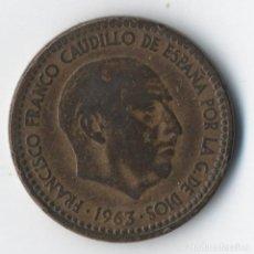 Monedas con errores: ESTADO ESPAÑOL , 1 PESETA DE 1963 *63 , VARIOS ERRORES DE CUÑO. MUY BONITA VER IMAGENES. Lote 93933625