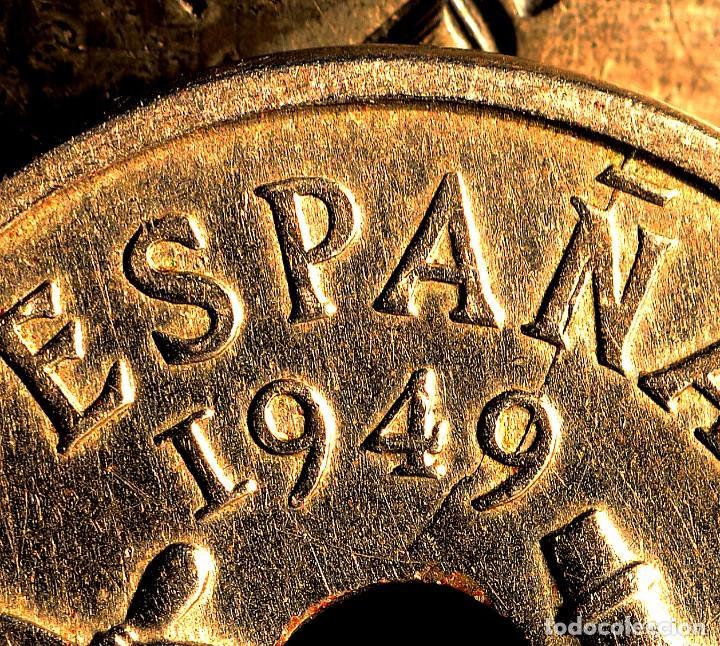 Monedas con errores: MONEDA DE CINCUENTA CÉNTIMOS 1949 *56: DELICADAS LÍNEAS DE MATERIAL EN EL REVERSO (REF. 382) - Foto 2 - 94020785