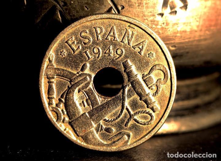 Monedas con errores: MONEDA DE CINCUENTA CÉNTIMOS 1949 *56: DELICADAS LÍNEAS DE MATERIAL EN EL REVERSO (REF. 382) - Foto 4 - 94020785