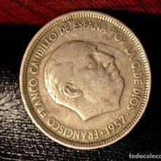 Monedas con errores: CINCO PESETAS 1957 *59. RARO ERROR POR COSPEL DOBLADO EN ANVERSO Y REVERSO (REF. 409). Lote 96449331