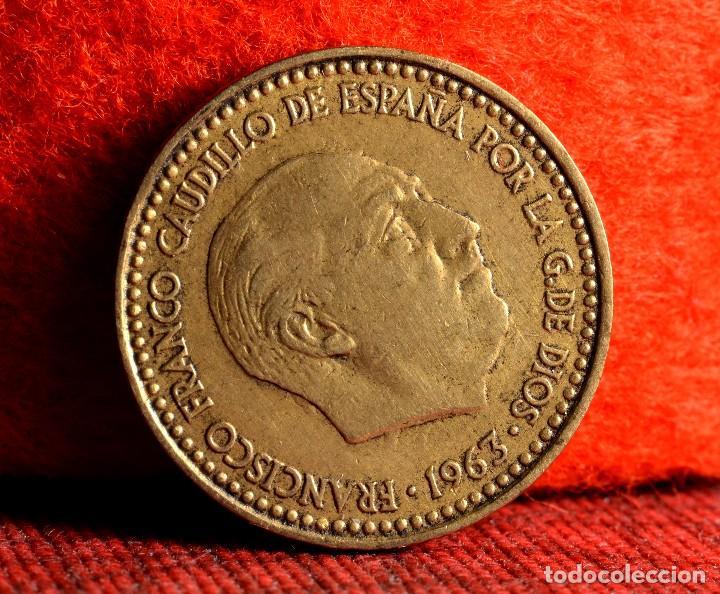 UNA PESETA 1963 *65. MÚLTIPLES ERRORES (REF. 410) (Numismática - España Modernas y Contemporáneas - Variedades y Errores)